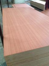 Engineered Wood Panels - Sapelli Veneered MDF Board, 2.5-25 mm thick