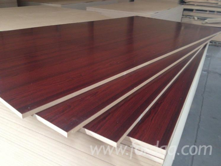 Beech/Sapele/Cherry/Wenge Woodgrain Melamine MDF Board, 2 5-25 mm thick