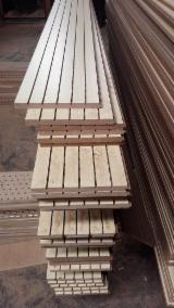Engineered Wood Panels - MDF Grooved Sound Absorbing Wall Paneling For Sport Halls, 2.5-25 mm thick