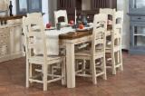 Mobili da Sala da Pranzo - Vendo Set Sala Da Pranzo Tradizionale Resinosi Europei Abete (Picea Abies) - Legni Bianchi Harghita
