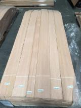Sliced Veneer - Red Oak Natural Veneer, Flat cut - plain, 0.52 mm thick