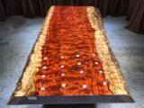 Meubles De Salle À Manger à vendre en Chine - Vend Table De Salle À Manger Design Feuillus Africains Bubinga (Kevazingo, Akume), Teak, Zingana (Zebrano, Zebrawood, Allen Ele)