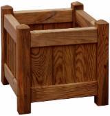 Donica drewniana brązowa 330 x 330 mm