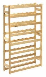 FSC Certified Kitchen Furniture - Pine - Redwood Wooden shelving for wine