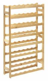 Regał drewniany na wino