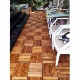 Find best timber supplies on Fordaq - Moc Phuoc Sanh Deck Tiles - Acacia Exterior Decking Tiles (6 Slats), 23 mm