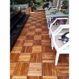 Exterior Decking - Acacia Exterior Decking Tiles (6 Slats), 23 mm
