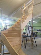 Wood Components, Mouldings, Doors & Windows, Houses - We produce pine stairs according to your sizes