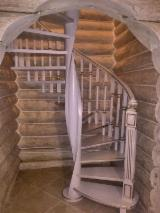 Wood Components, Mouldings, Doors & Windows, Houses - We produce spiral stairs of oak, birch, pine according to your sizes