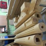 Oak Wood Components - We make pillars for the columns of the entrance portal according to your size