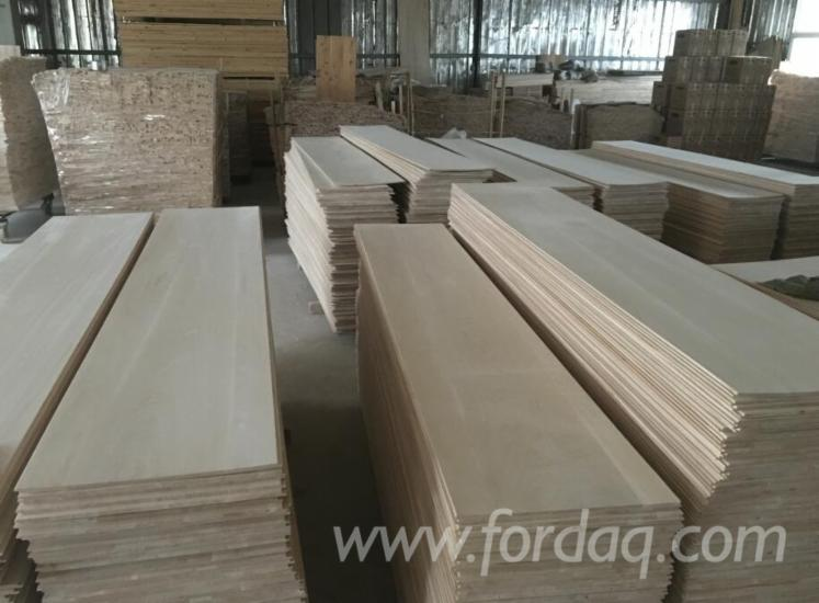 Paulownia Solid Wood Panels, Glued, 9; 15; 18 mm thick