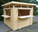 Wood Houses - Precut Timber Framing For Sale - Pine Closed Shopping Stall