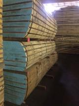 Hardwood  Unedged Timber - Flitches - Boules - Slavonian OAK (Quercus robur) Half-Edged Boards, FSC, 40; 52; 65; 80 mm