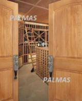 Vertical Grain Clear Pine Doors, French Glass