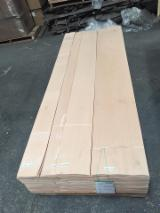 Sliced Veneer - Beech Natural Veneer, Flat cut - plain, 0.55 mm thick