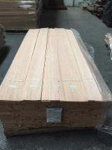 Sliced Veneer - Red Oak Natural Veneer, Flat cut - Plain, 0.55 mm thick