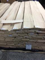 Sliced Veneer FSC - Oak Natural Veneer, Quartered - plain, 0.56 mm thick