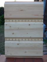 Drewno Iglaste  Drewno Klejone Warstwowo – Elementy Drewniane Łączone Na Mikrowczepy Na Sprzedaż - Bal płaski elewacyjny