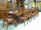 Indonésie provisions - Vend Ensemble Table Et Chaises Pour Salle À Manger Antiquité Feuillus Africains Acajou Jepara, Central Java