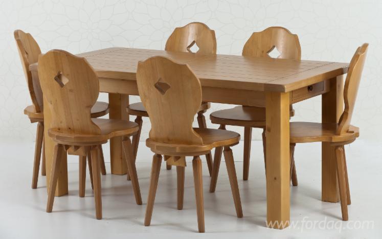 Vend ensemble table et chaises pour salle manger traditionnel - Ensemble tafel et chaise salle a trog ...
