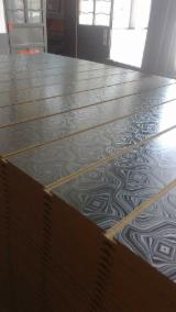 Engineered Wood Panels - MDF Slatwall with Aluminium Bars, Various Colors, Diamond Design, 14-25 mm thick