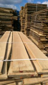 Unedged Hardwood Timber - Unedged Loose Beech Planks, KD, 32; 45 mm thick