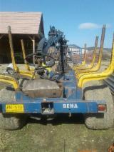 Oprema Za Šumu I Žetvu - Prikolica S Pokretnim Podom BEHA 1200 Polovna 2010 Rumunija
