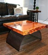 Art & Crafts/Mission Living Room Furniture - Teak Coffee Table
