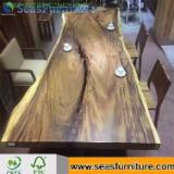 Restaurant Tables Contract Furniture - Solid Black Walnut Slab Restaurant Tables