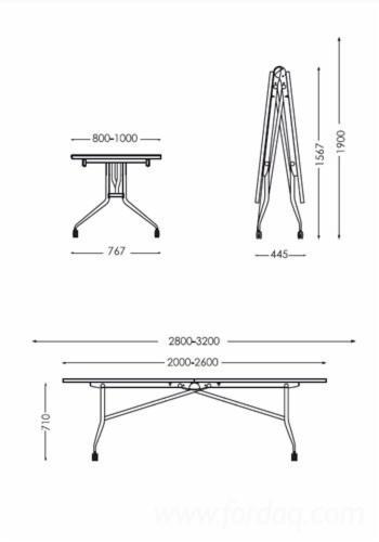 Office oak elm wenge libro pliable table for Table conforama pliable
