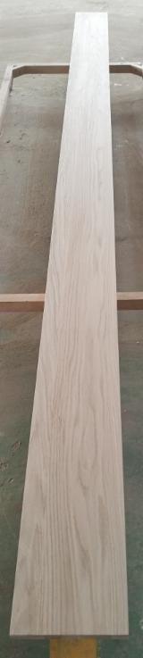 Wood Components For Sale - Veneered Stair Stringers - solid oak core finished with natural oak veneer on each side