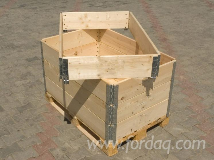 New Spruce Pliable Industrial Crates