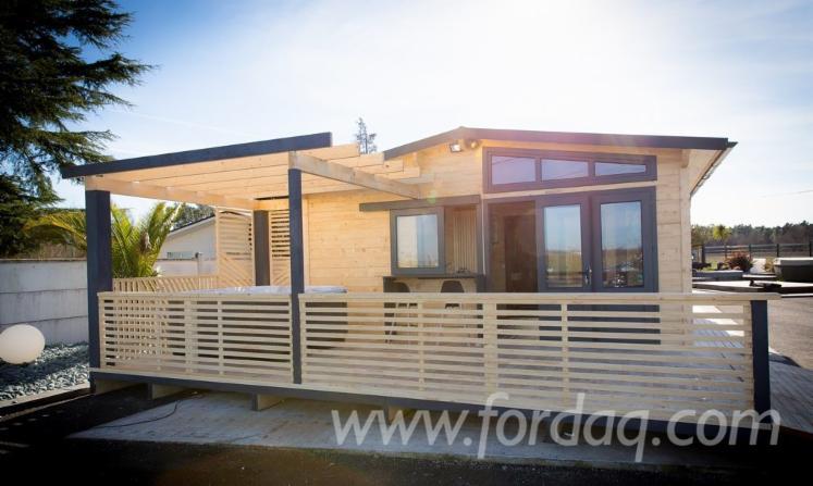 Casas con vigas de madera excellent vigas madera tejados for Tejados madera blanca