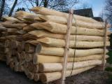 Cylindrical Trimmed Round Wood - Acacia Stakes, diameter 8-12+ cm