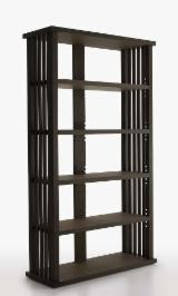 Bookcase Living Room Furniture - Dark Bookcase For Sale