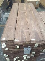 Walnut  Sliced Veneer - Walnut Natural Veneer, Flat cut - plain, 0.52 mm thick