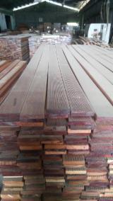 Terrassenholz Indonesien - Keruing, Altholz, Rutschfester Belag (1 Seite)