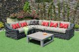 Art & Crafts/Mission Garden Furniture - Poly Rattan Sofa Set RASF-126