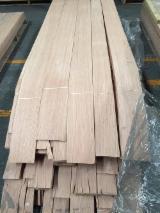 Sliced Veneer For Sale - Red Oak Natural Veneer, Flat cut - Plain, 0.55 mm thick