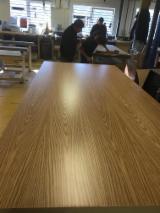 2.0-25 mm C/C, Q/C UV White Oak Fancy Plywood, Poplar core