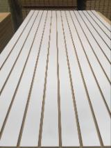 Engineered Panels China - 15-18 mm Grooved Melamine MDF