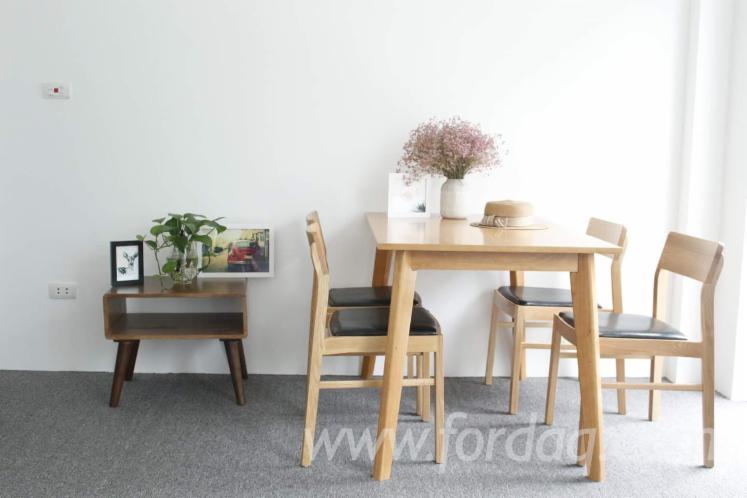 vend ensemble table et chaises pour salle manger colonial feuillus asiatiques hevea