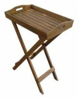 Contemporary Garden Furniture - Wooden tray, oil finishing