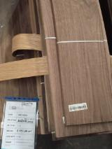 Walnut  Sliced Veneer - Walnut Veneer, Flat cut - plain, 0.52 mm thick