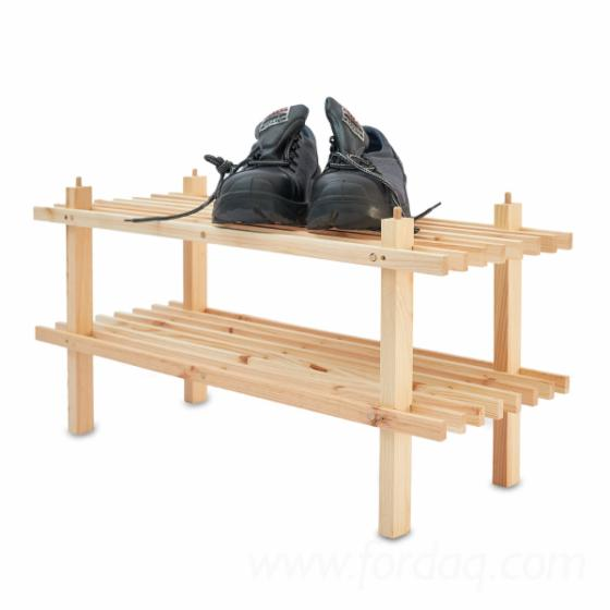Wooden shoe rack 70x26x34 / 70x26x34 / 2-levels / full truck loads