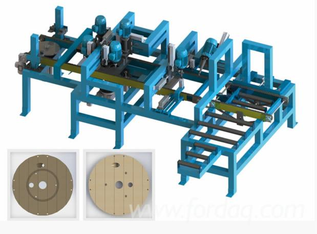 Machines-for-wood-cutting-and-manufacture-of-wooden-reels---