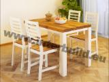 Interior Furniture - 5 PC Rectangular Fano Dining Set in Acacia with Extension Table