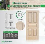 Mouldings and Profiled Timber - Natural Ash HDF Door Skin Panel