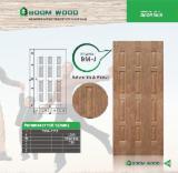 Mouldings and Profiled Timber - Natural black walnut HDF door skin panel