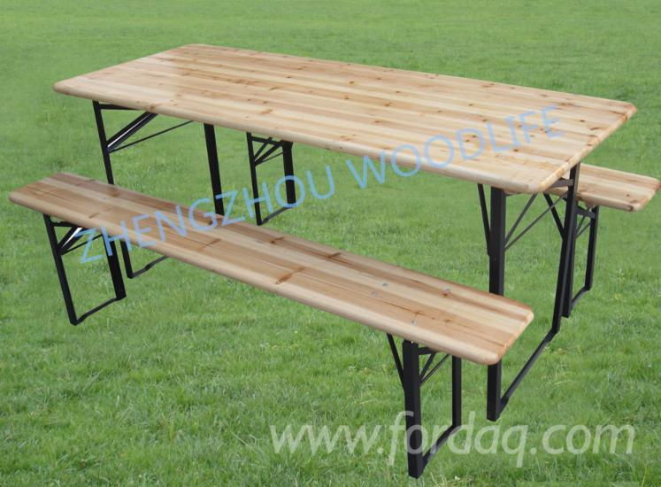 Chinese-Fir-and-Iron-Garden-Table-with